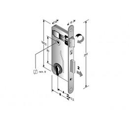 Brava za drvena vrata s cilindrom
