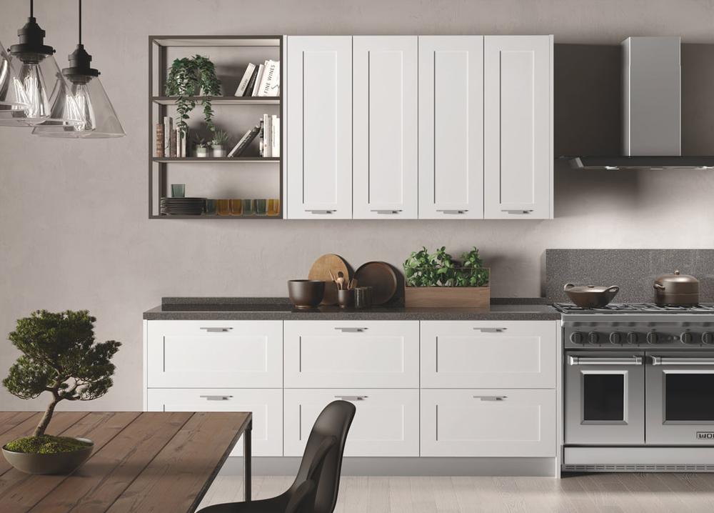 Aluminijske police u kuhinji: Modularni sistem 20x20