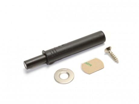TIP-ON za vrata kratki crni s magnetom
