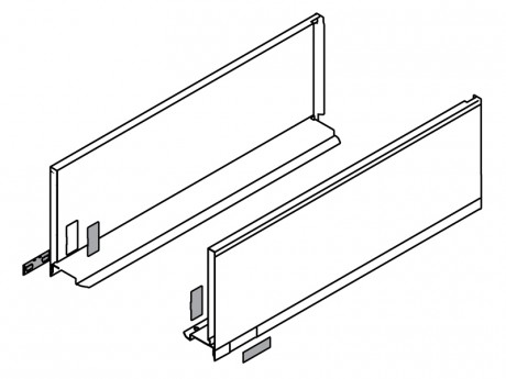 LEGRABOX stranica 500 mm - Svileno bijela, mat - visina - C