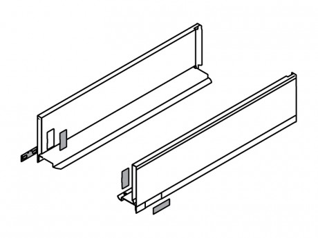 LEGRABOX stranica 500 mm - Svileno bijela, mat - visina - K