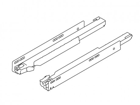 LEGRABOX vodilica 500 mm TIP-ON BLUMOTION - 40 kg