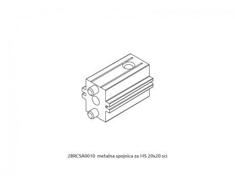 MS 20x20 metalna spojnica za profile