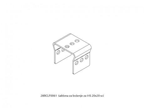 MS 20x20 šablona za bušenje