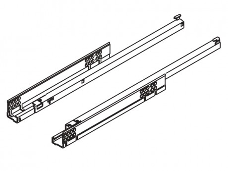 TANDEM vodilica djelomično izvlačenje + BLUMOTION 450 mm - 30 kg