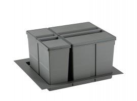 Ladični sustav za odvajanje otpada 9XL 600 Orion siva