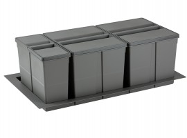 Ladični sustav za odvajanje otpada 9XL 900 Orion siva