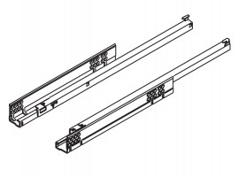 TANDEM vodilica djelomično izvlačenje + BLUMOTION 400 mm - 30 kg