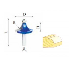 Glodalo HM r-2 mm, Φ16,7 mm