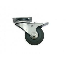 Kotač okretni 50 mm guma s kočnicom