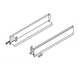 LEGRABOX stranica 500 mm - Svileno bijela, mat - visina - M