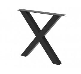 Noga za stol Cross 80 crna ral 9005