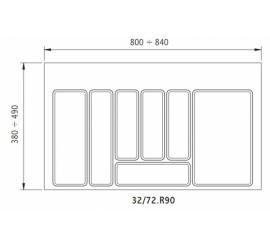 Uložak za ladicu bijeli 32/72 - element 900