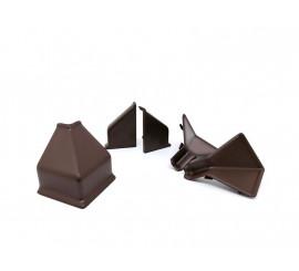 Završeci za letvu Čokoladno smeđi 1091